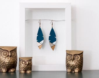 CHARLIE Feather Leather Earrings