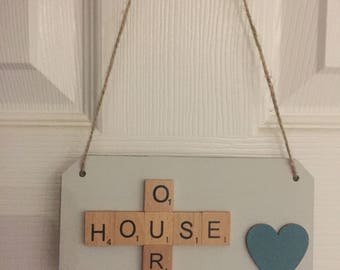 Scrabble plaques for your home - personalised, home decor