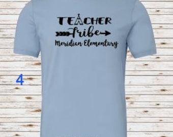 Teacher Tribe Tshirt, Teacher Tribe Shirt, Meridian Elementary School, Elementary School TShirt, Teacher Gift, Teacher T Shirt, Teacher Tee