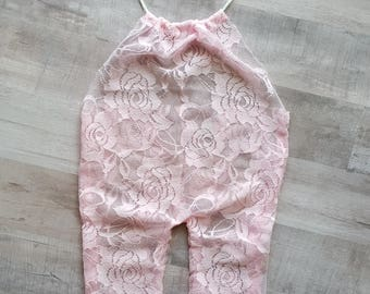 Newborn 'Elena' lace jumpsuit