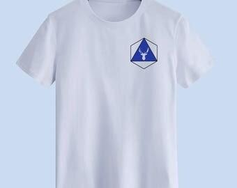 Blue deer Unisex T shirt, T Shirts For Men, T Shirts For Women T Shirt For Youth, Street T-shirts Hipster T Shirt Customize Gift T Shirt