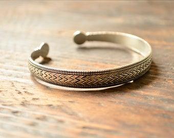 Antique Bracelet Copper Bracelet Men's Gift Men's Bracelet Gift For Him Pattern Bracelet Stylish Bracelet