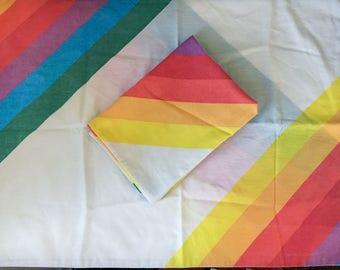 Vintage Rainbow Pillowcases (Set of Two)