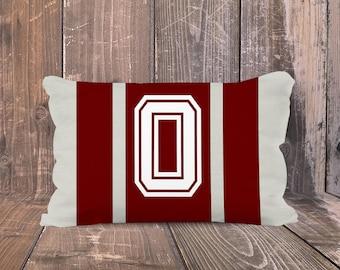 Oklahoma Sooners Pillow, Personalized University of Oklahoma Pillow, Preppy OU Pillow, Monogrammed OU Pillow, Sooners  Dorm Decor