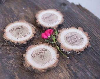 10 wedding place cards, wood escort cards, reversible, rustic place cards, wood name cards, personalized table card, wedding gift for guests