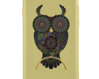 Sand Gold Owl iPhone Case