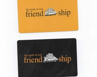 Set of 2 Friendship Black & Yellow swap cards Beach-Playing cards-craft-scrapbook-collectable P13