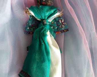 Marie LaVeau Voodoo Doll handmade Authentic Altar Doll Queen of Voodoo, healer,  spiritual, known for beauty and wisdom New Orleans Inspired