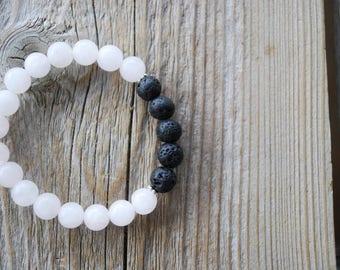 Essential oil diffuser bracelet aromatherapy bracelet yoga bracelet mala beads meditation bracelet  yoga jewelry rose quartz lava beads