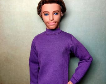 Heath - OOAK Dyed hair & Face-up 1/6 scale, pose-able 12 inch male fashion doll