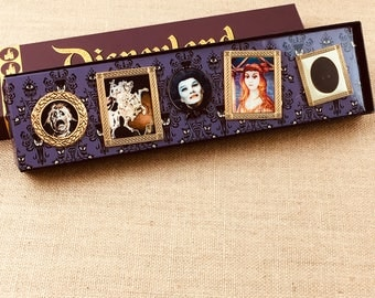 Disney Haunted Mansion Madame Leota Knight Horse Ghost Lenticular Box Exclusive Pin Collection