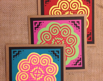 Specialty Hmong Cards - Reverse Appliqué