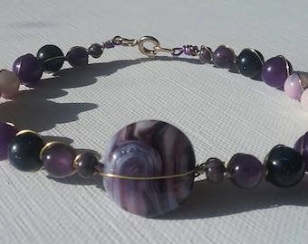 Floral Amethyst Bracelet