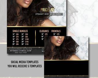 Social Media DIY Template - Premade template -