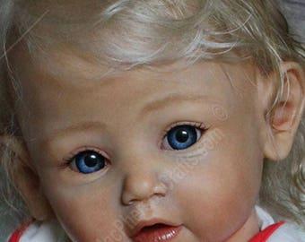 PRE-ORDER CUSTOM Teal Newborn Reborn Doll by Mayra Garza