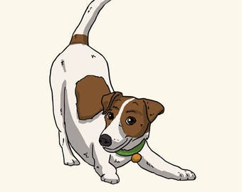 Jack Russell Greetings card: Blank