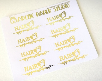 Hair Appointment - FOILED Sampler Event Icons Planner Stickers
