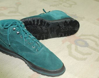 Dark green 1990s Keds lace up boots