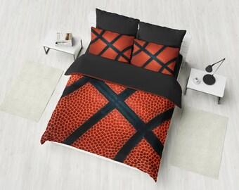 Basketball Bedding Duvet Cover Set Designer Sport Bedroom Comforter Decor