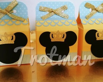 Mickey Mouse Inspired Little prince favor box