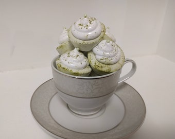 Matcha Marshmallows Shaped as Cupcakes Halal Kosher