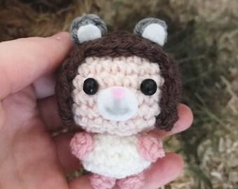Amigurumi, crocheted figurine, doll, cute, kawaii, hamster, Halloween, Halloween costume, autumntime, autumn, presentidea