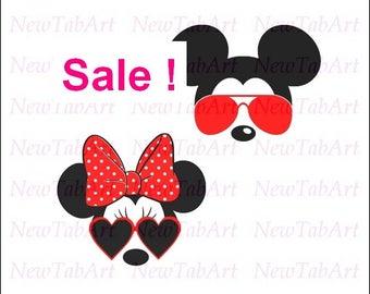 30% off!!!  Minnie Mouse svg minnie mouse svg sunglasses minnie mouse sunglasses svg disney svg files for Cricut Vector Cut Files
