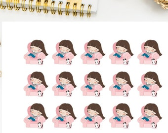 Planner Girl Lazy Day Stickers, planner girl lazy day planner stickers