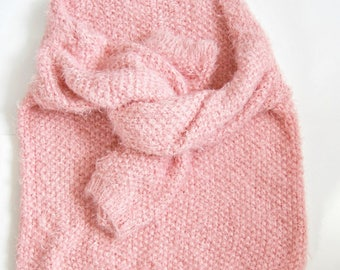 Fluffy Oversize Pink Sweater. Fluffy Jumper. Funny Fluffy Sweater for Woman. Womens Powder Pink Pullover. Powder Pink Jumper. FREE SHIPPING!
