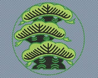 Embroidery japanese crest kamon