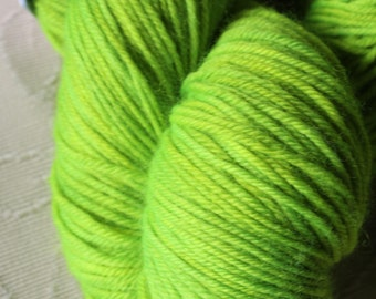 Hand Dyed 'Grasshopper' 4 ply Australian Sock Yarn 100 grams
