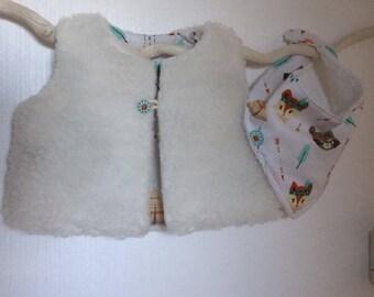 "Shepherd ""little fox"" baby vest"