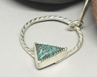 Turquoise Stone set in Sterling Silver Necklace