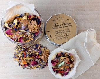 Epsom/Lavender/Calendula/Dandelion/Rose/Cornflower/Frankincense/Jasmine/Ylang Ylang... 100% Natural 250ml Bath Salts & Scallop Shell Scoop..