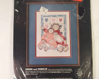 Dimensions Cross Stitch Kit 1986 - Sarah and Rebecca - Unopened