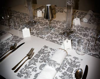 Silver Placemats,(PACK OF 20) Wedding Placemats, Elegance Design
