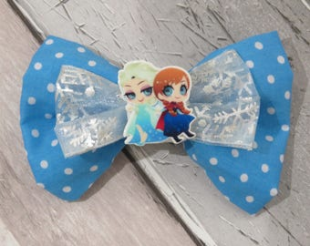 Disney Frozen Dog Double Bow Tie, Dog clothing, Doggy Bow Tie, Puppy Bow Tie, Detachable Bow Tie, Slip on bow tie