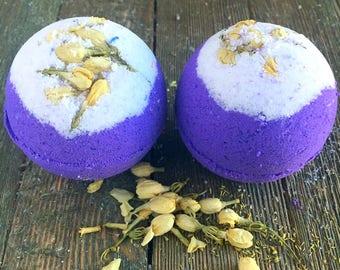 Purple Rain Bath Bomb, Jasmine Bath Bomb, 4 oz bath bomb,round Bath Bomb,Purple Bath Bomb,Bath Fizzy,Bath Fizzies, Flower Bath Bomb