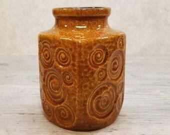 """VTG 1960s-70s SCHEURICH 282-10 Vase in """"Jura"""" Decor West German Pottery Fat Lava Era Midcentury Modern"""
