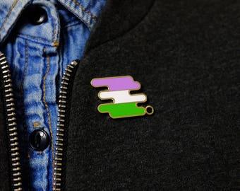 Genderqueer Pride Pin   LGBTQ+ Pin Series