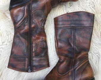 VNTG * Women's Leather Cowboy Boots