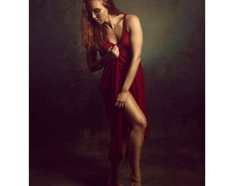 Fine Art Photography 16x24 Print Dancer In Red Two