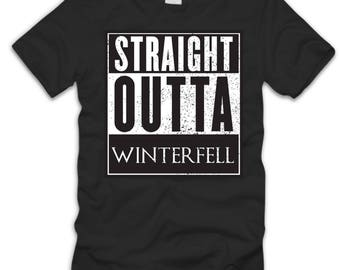 Straight Outta Winterfell Game of Thrones Funny Humor Unisex T-shirt