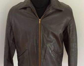 1940s PONY HORSEHIDE LEATHER Motorcycle Jacket Superb Condition! Vintage Sport Coat