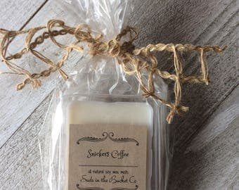 Snickers Coffee Soy Wax Melt / Scented Soy Wax Melt/ Farmhouse Bakery All Natural Wax Melt
