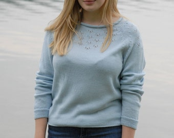 """KATJA"" sweater made of fine Merino Wool."