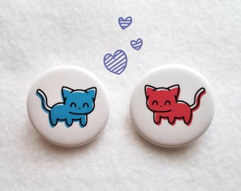 Love Kitties Buttons (2 pack)