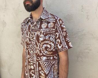 Men's 60's 70's Vintage Medium Tori Richard Aloha Hawaiian Shirt