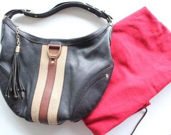 Vintage Cole Haan Leather Saddle Bag
