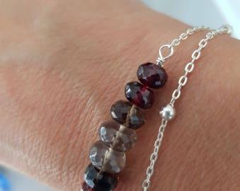 925 silver bracelet and natural gemstones